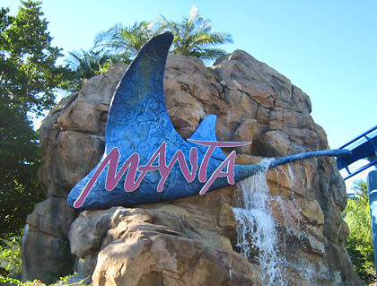 Manta Roller Coaster Sign