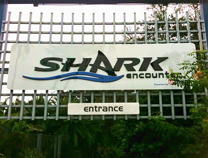 Shark Encounter Sign