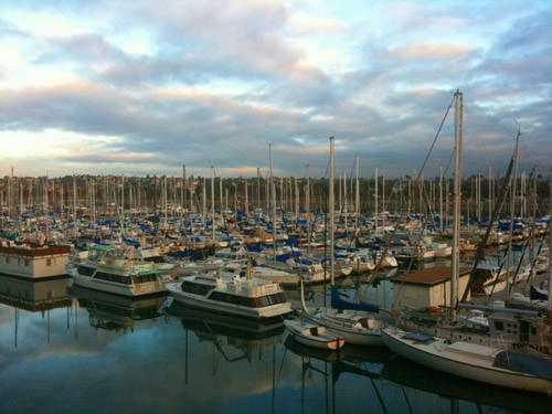 San Diego Marina at Sunrise