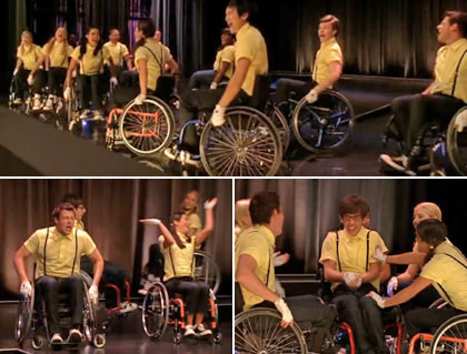 Glee kids in wheelchairs!