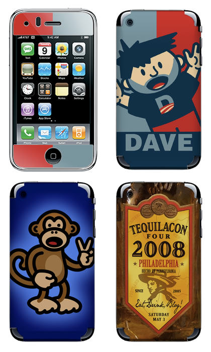 Dave's customized iPhone skins...