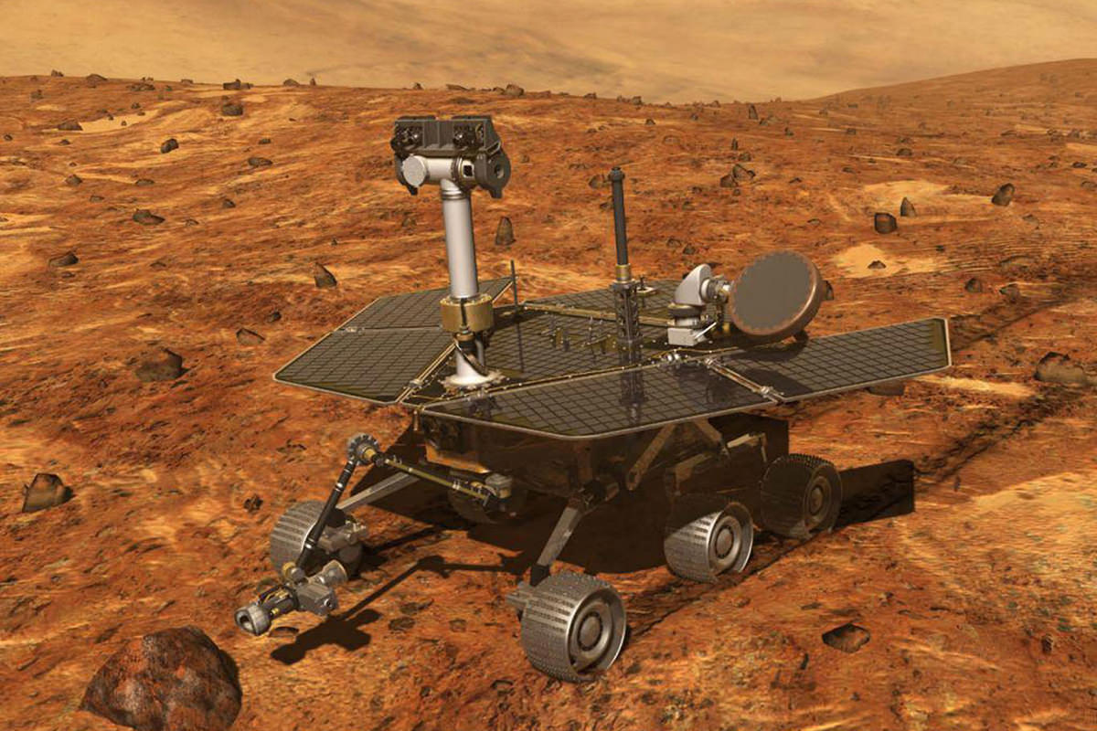 NASA Spirit Rover on Mars.