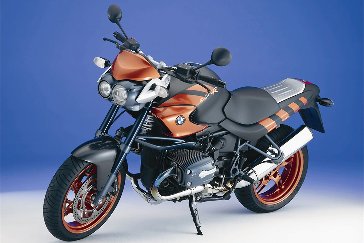 The BMW 1150 Rockster motorcycle from Paycheck