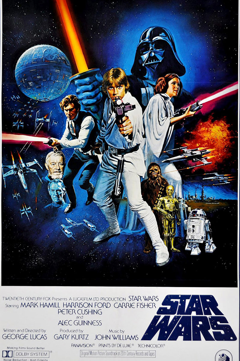 The original Star Wars movie poster.