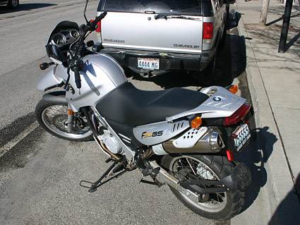 My BMW 650GS motorcycle.