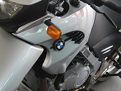 A close-up shot of my BMW F650-GS
