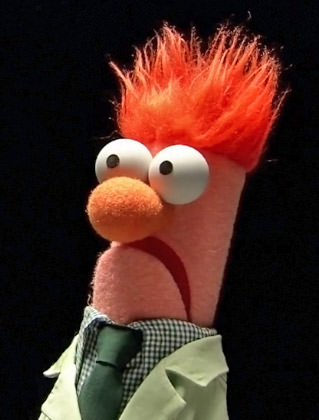 It's Beaker from the Muppets looking particularly puppet-like!