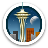 Space Needle Badge