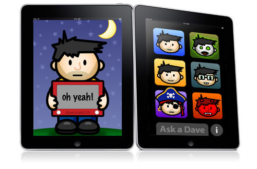 iPad as an Ask Dave! app