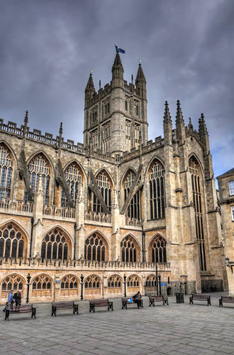 Bath Cathedral HDR Photo