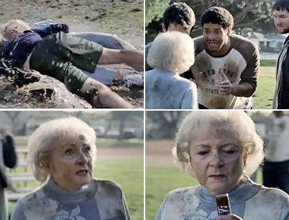 Betty White plays Football
