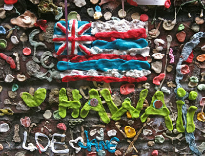 Hawaiian Flag on Seattle's Gum Wall