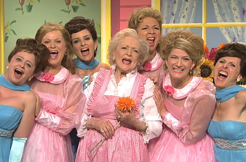 Betty White and her Four Daughters on Lawrence Welk