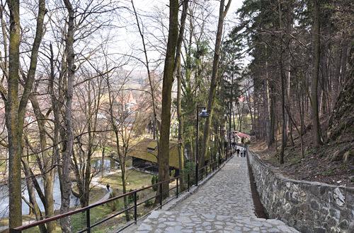 Dracula's Bran Castle Cobblestone Path
