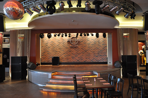 Hard Rock Cafe Bucharest Interior Stage
