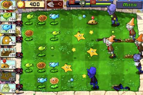 Plants Vs. Zombies Play Screen