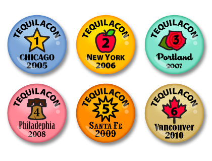 TequilaCon Merit Badges 2005-2010