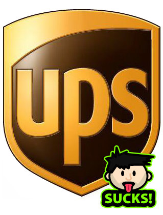 UPS - United Parcel Service Logo - SUCKS!!