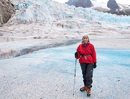 Mom on a Glacier
