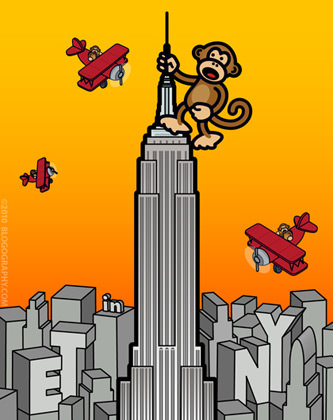 Bad Monkey on the Empire State Building