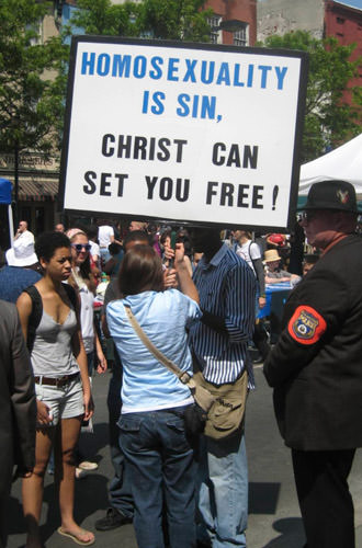 Gay Protest at Philly Pride 2008