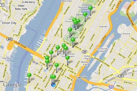 Gowalla Featured Spots in Manhattan