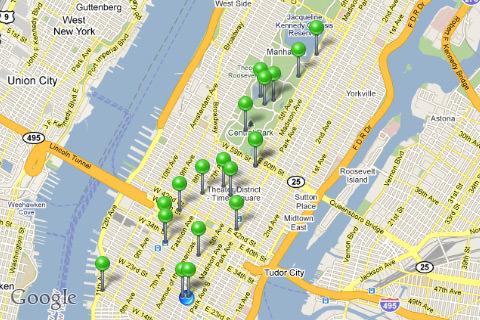 Gowalla Featured Spots in Manhattan