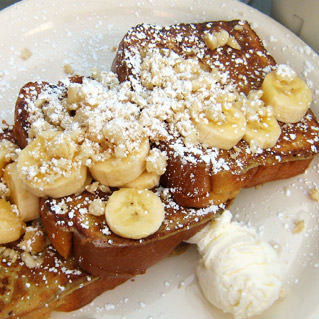 Banana Macadamia French Toast