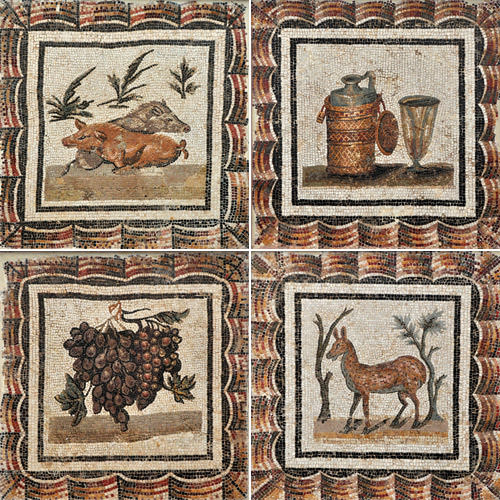 Bardo Museum Mosaic Four-Panel