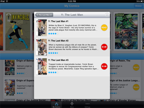 Comixology iPad App