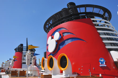 The Disney Magic ship.