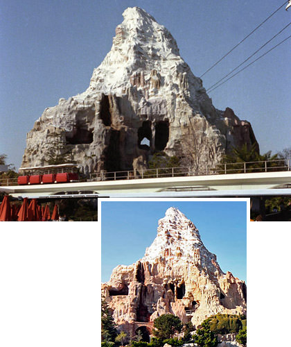 Disneyland Matterhorn Bobsleds Then and Now.