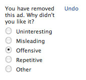 You have removed this ad. Why didn't you like it? OFFENSIVE!!