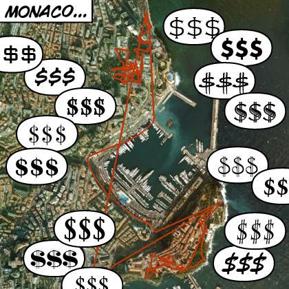 Monaco GPS Map