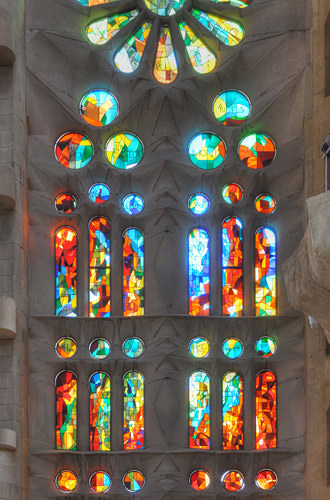 Sagrada Família Stained Glass Window