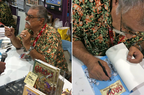 Sergio Aragones Signs at ComicCon