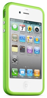 iPhone White and Green Bumper