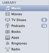 iTunes Grey Mini-Icons