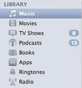 iTunes Grey Mini-Icons