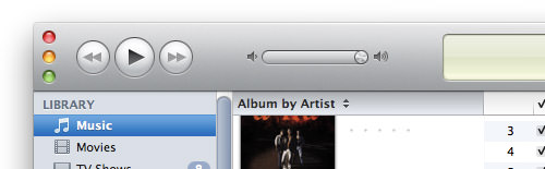 iTunes Window Controls