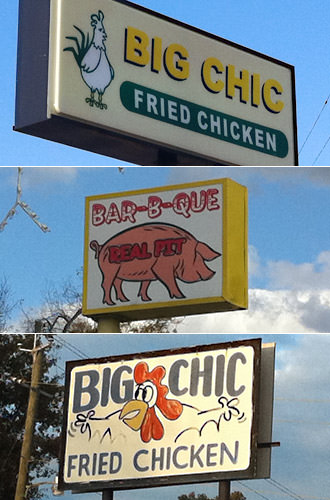 Restaurant Signs with Animals on Them!