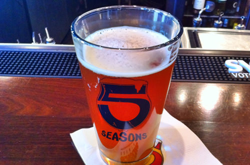 A glass of Great Pumpkin Beer!