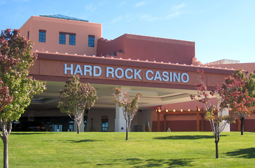 Shitty Hard Rock Casino Sign