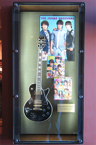 Jonas Brothers Guitar Display