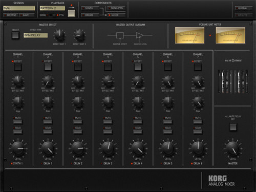 Korg iMS-20 for iPad Mixer