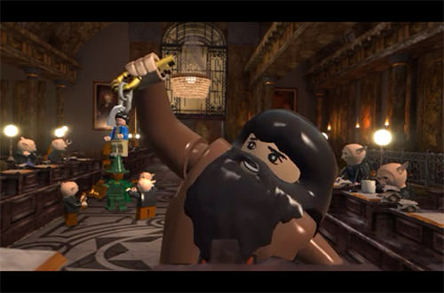 LEGO Harry Potter for iPhone: Hagrid has the keys at Gringot's Bank!