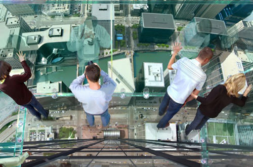 Sears Tower Ledge Glass Floor