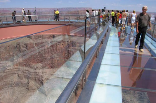 Grand Canyon Skywalk Glass Floor