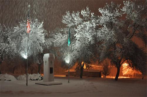 Snowy Cemetery Memorial