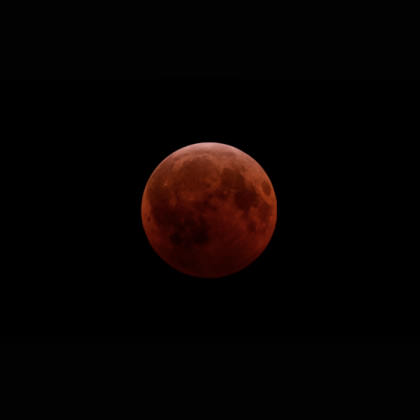 A beautiful lunar eclipse